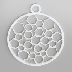 hexagon-decoration.png Télécharger fichier STL Décoration des hexagones de l'arbre de Noël • Design pour imprimante 3D, simonprints