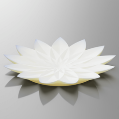 render.png Download STL file Flower Candle Stand Plate 3D Model • 3D print template, simonprints