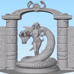 Descargar diseños 3D Culto de la Serpiente Roja Sonja, abntroop1