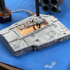 Download STL file Star Wars: A New Hope Blockade Runner Star Destroyer light box, abntroop1