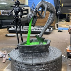 Download STL file The Nightmare Before Christmas - Halloween Town Fountain • Design to 3D print, abntroop1