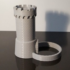 STL gratis Torre Castle Dice, jansentee3d