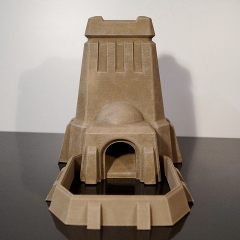Download 3D printing designs Desert Dice Tower, jansentee3d