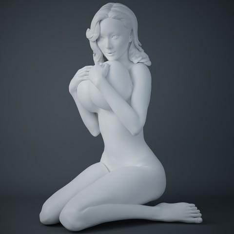 3D print model Woman holding big breasts, XXY2018