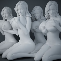 Download 3D printing designs Woman holding big breasts collection, XXY2018