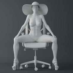 Download 3D printer model Fashion office lady, XXY2018