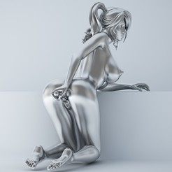 3d printer model Sexy Kneeling cartoon girl, XXY2018