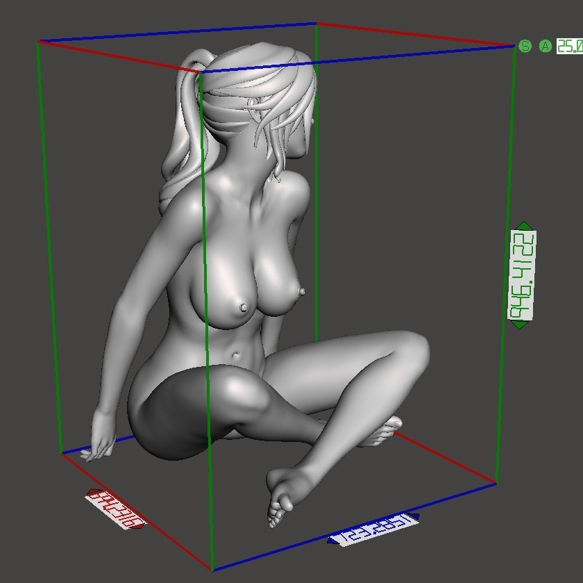 Naked cartoon girl sitting Preview005.jpg Download STL file Naked cartoon girl sitting • 3D printing object, XXY2018