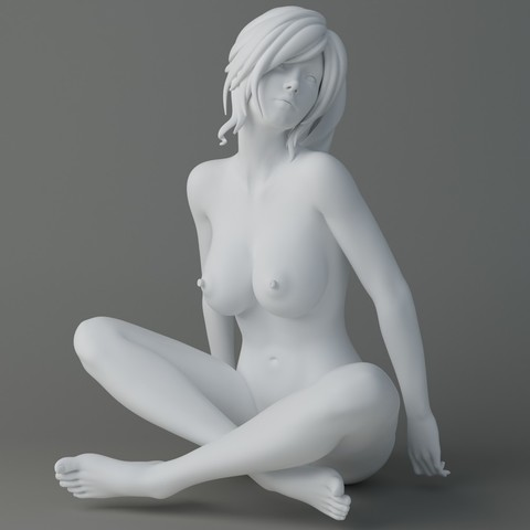 Naked cartoon girl sitting Preview002.jpg Download STL file Naked cartoon girl sitting • 3D printing object, XXY2018