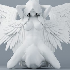 STL file Sexy double angel series 003, XXY2018