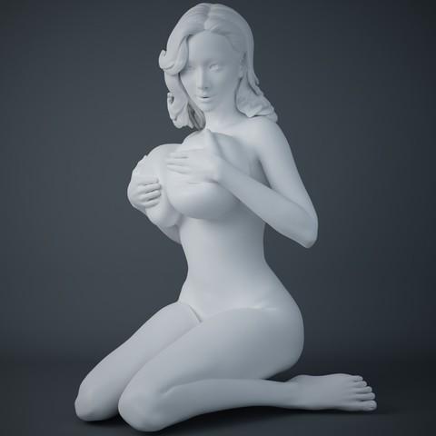 3D print model Woman holding big breasts, XXY2018