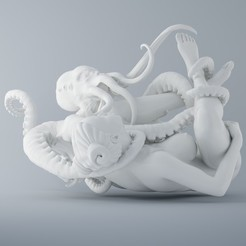 Download 3D printing files OCTOPUS AND ANGEL 003, XXY2018