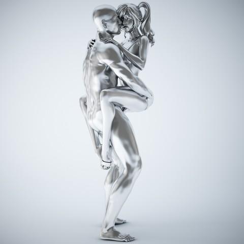 3D printer models Cartoon man and woman, XXY2018