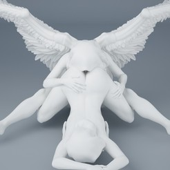 3D printing model Sexy double angel series 005, XXY2018