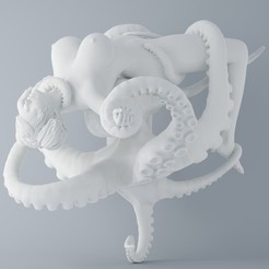 3D printer files OCTOPUS AND ANGEL 005, XXY2018