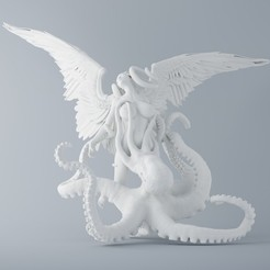 Download 3D printing templates Octopus and angel 001, XXY2018