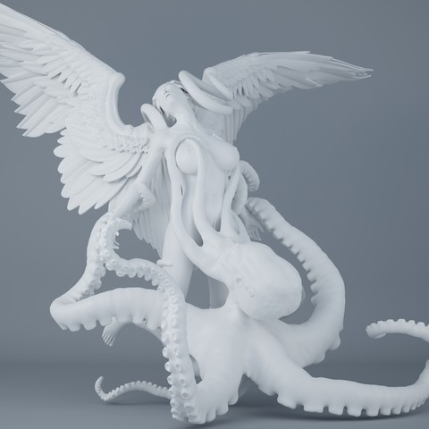 STL files Octopus and angel 001, XXY2018