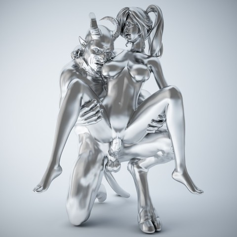 3D print model Devil and girl, XXY2018