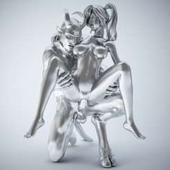 Download 3D printing designs Devil and girl, XXY2018
