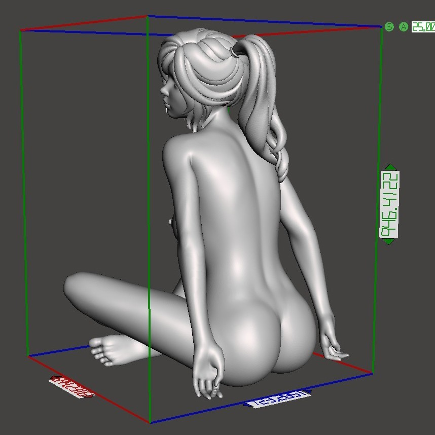 Naked cartoon girl sitting Preview006.jpg Download STL file Naked cartoon girl sitting • 3D printing object, XXY2018