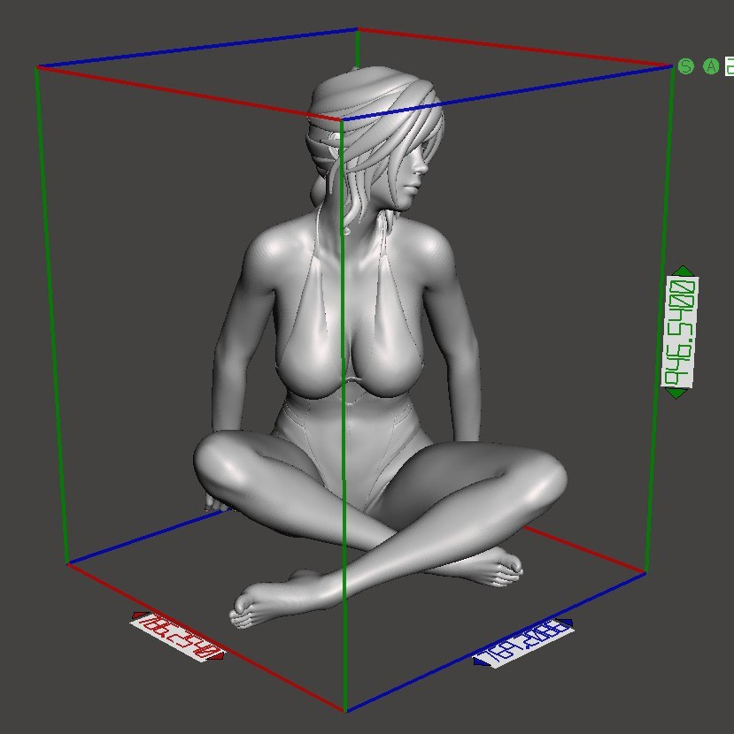 Swimsuit cartoon girl Preview005.jpg Download STL file Swimsuit cartoon girl • 3D printer model, XXY2018