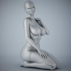 3D printing model SEXY FEMALE ROBOT 002, XXY2018