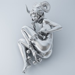 3D print model Woman with beads, XXY2018