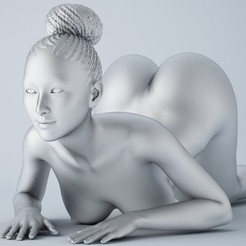 3D printing model African girl 001, XXY2018