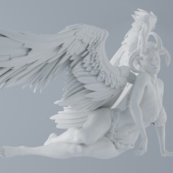 Download free 3D printer designs Evil Angel, XXY2018