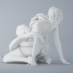 3D printing model OCTOPUS AND ANGEL 004, XXY2018