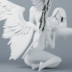3d printer model Sexy double angel series 004, XXY2018