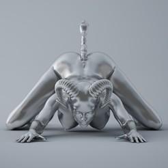 Download 3D model Kneeling Demon, XXY2018