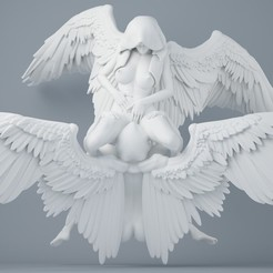 3D printer models Sexy double angel series 001, XXY2018