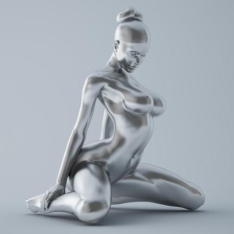 3D printing model Kneeling Girl, XXY2018