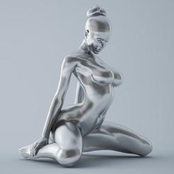 Download 3D printer templates Kneeling Girl, XXY2018