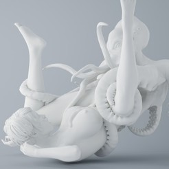 Download 3D printer model OCTOPUS AND ANGEL 007, XXY2018