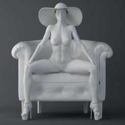 Download STL Fashion girl sitting on the sofa, XXY2018