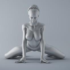 3D printing model Kneeling Women, XXY2018