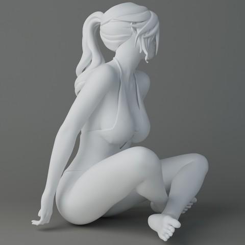 Swimsuit cartoon girl Preview002.jpg Download STL file Swimsuit cartoon girl • 3D printer model, XXY2018