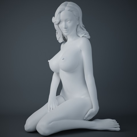 Download 3D printing templates Seated Woman, XXY2018