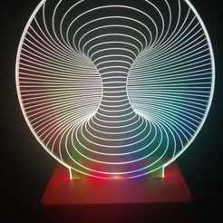 Lamp Pic2.jpg Download 3DS file LED illusion Lamp Stand 18650 • 3D print model, coilheaddesigns