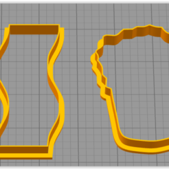 BBQbaconBeer.PNG Download STL file BBQ Bacon Beer Cookie Cutter set • 3D printable model, coilheaddesigns