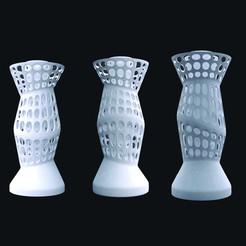 Objet 3D Vase à trou avec récipient , Taccodesign3d