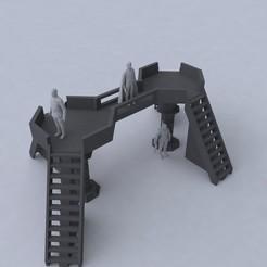 Télécharger STL Diorama Sci-Fi- Plate-forme pour exposition de figurines , Taccodesign3d