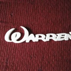 Télécharger fichier STL gratuit Warren plaque porte (police Disney) • Plan imprimable en 3D, Babynavy