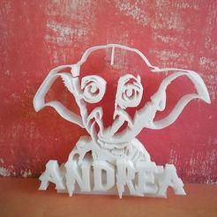 69455476_119756802711708_9131395977930866688_o.jpg Télécharger fichier STL porte nom Dobby / harry potter • Design à imprimer en 3D, Babynavy