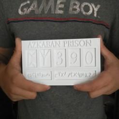 IMG_20200708_133055.jpg Télécharger fichier STL plaque Azkaban Sirius Black / Harry Potter • Objet à imprimer en 3D, Babynavy