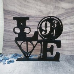 love harry 1.jpeg Download STL file love harry potter • 3D printing model, Babynavy