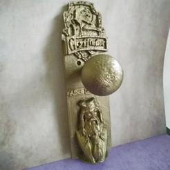 Download 3D printer designs Door handle Albus Dumbledore/ Albus Dumbledore door handle, Babynavy