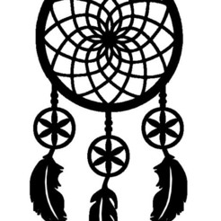 attrape reve 1.jpg Download STL file stickers catch dream dreamcatcher dream • 3D printable design, dderaedt